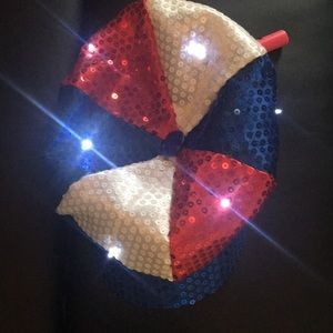 Other - Red white and blue led light hat